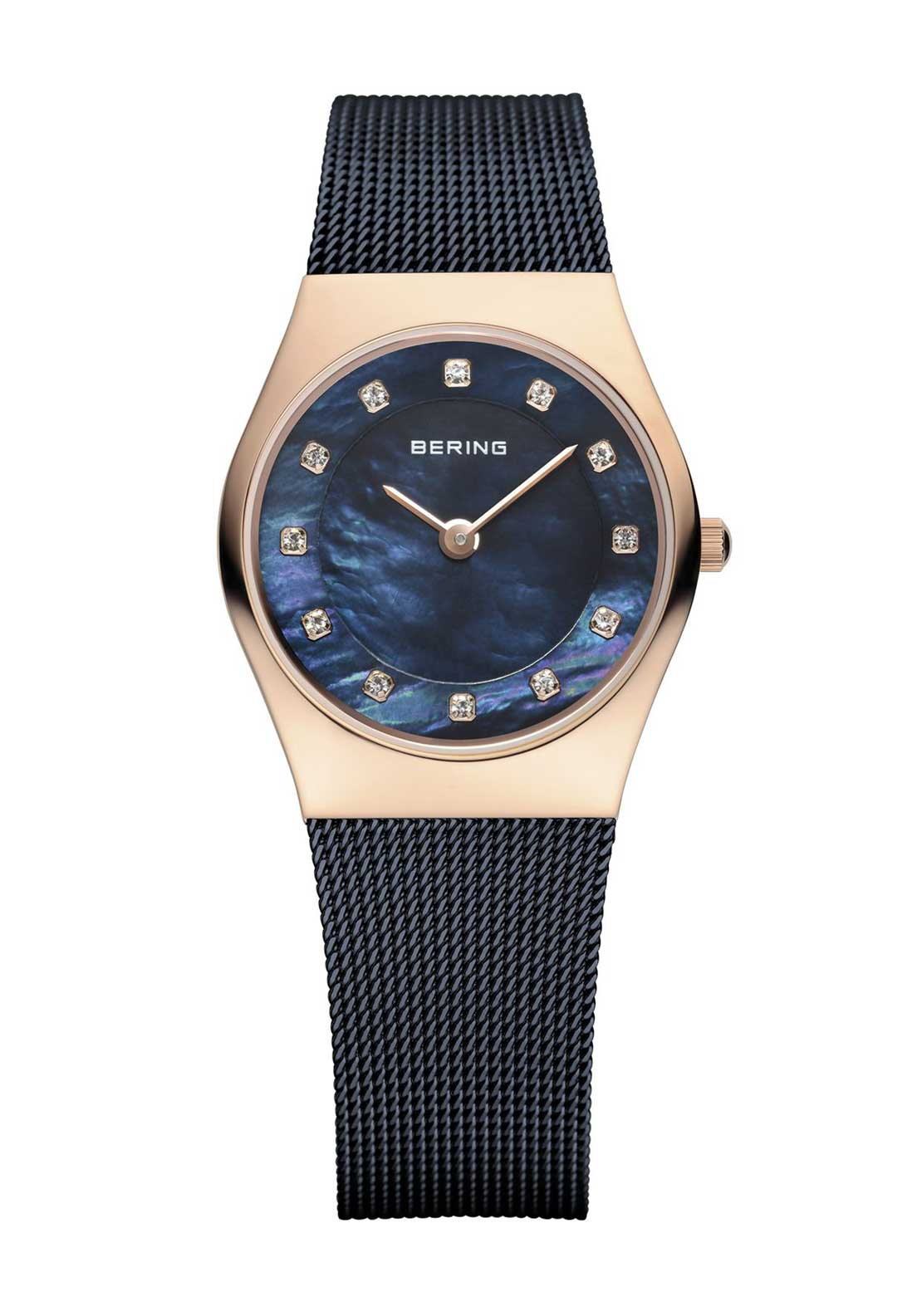 Bering Womens Slim Milanese Watch, Navy