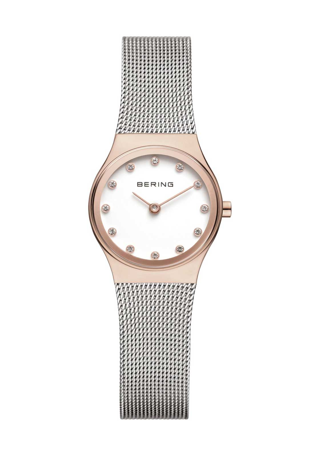 Bering Milanese Small Watch, Rose Gold