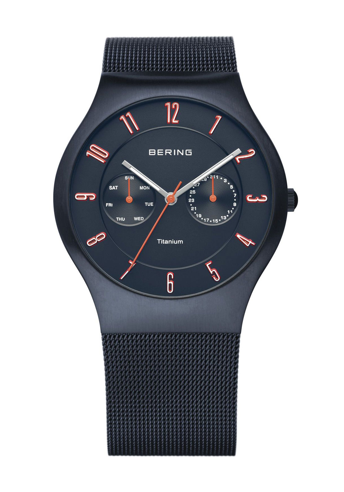 Bering Classic Titanium Watch, Dark Blue
