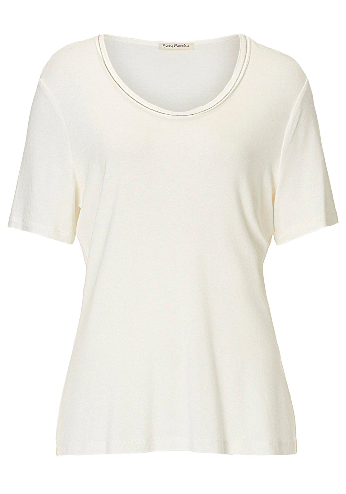 Betty Barclay Stud Trim Short Sleeve T-Shirt, White