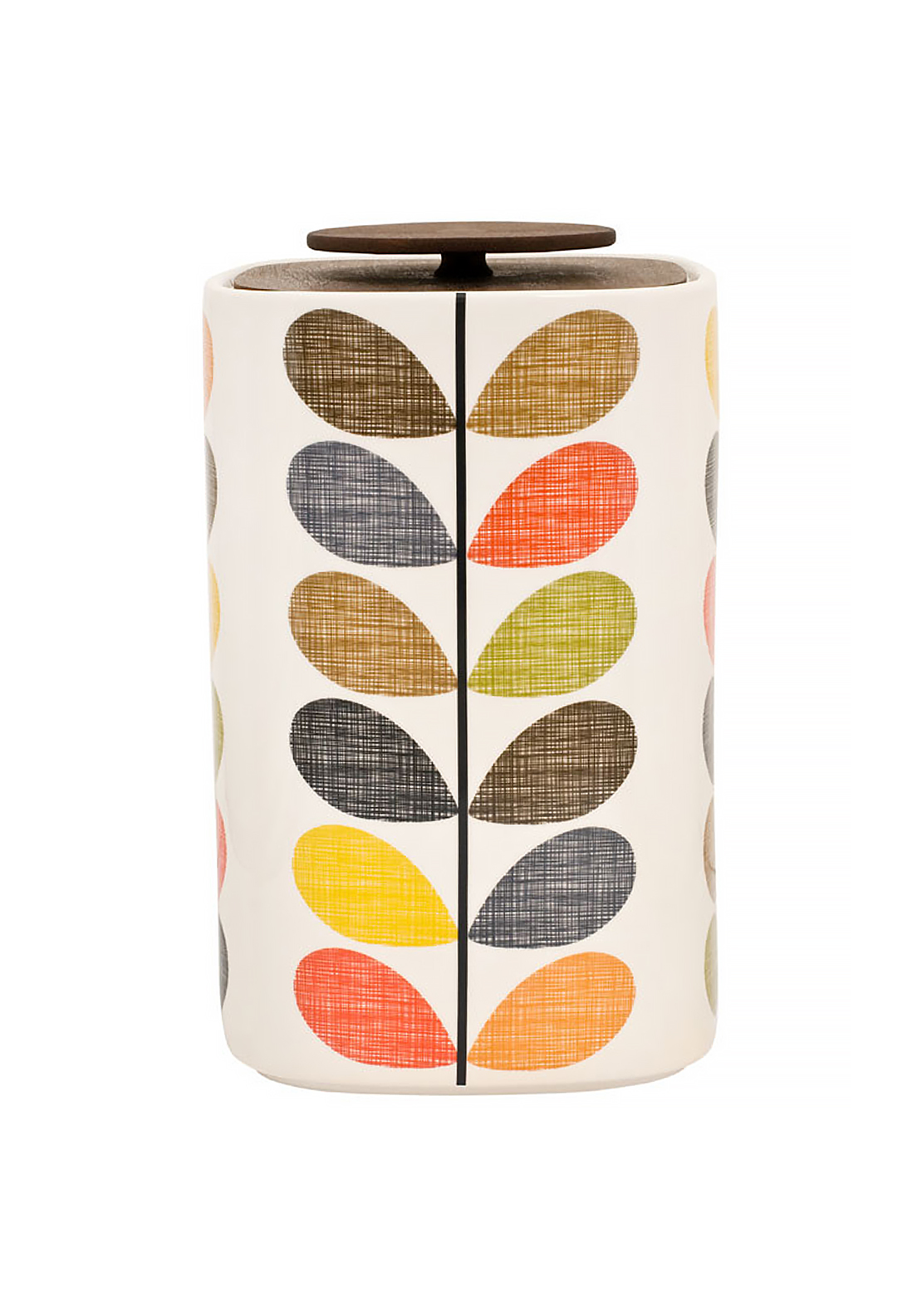 Orla Kiely House Bread Bin Multi Stem, Cream Multi