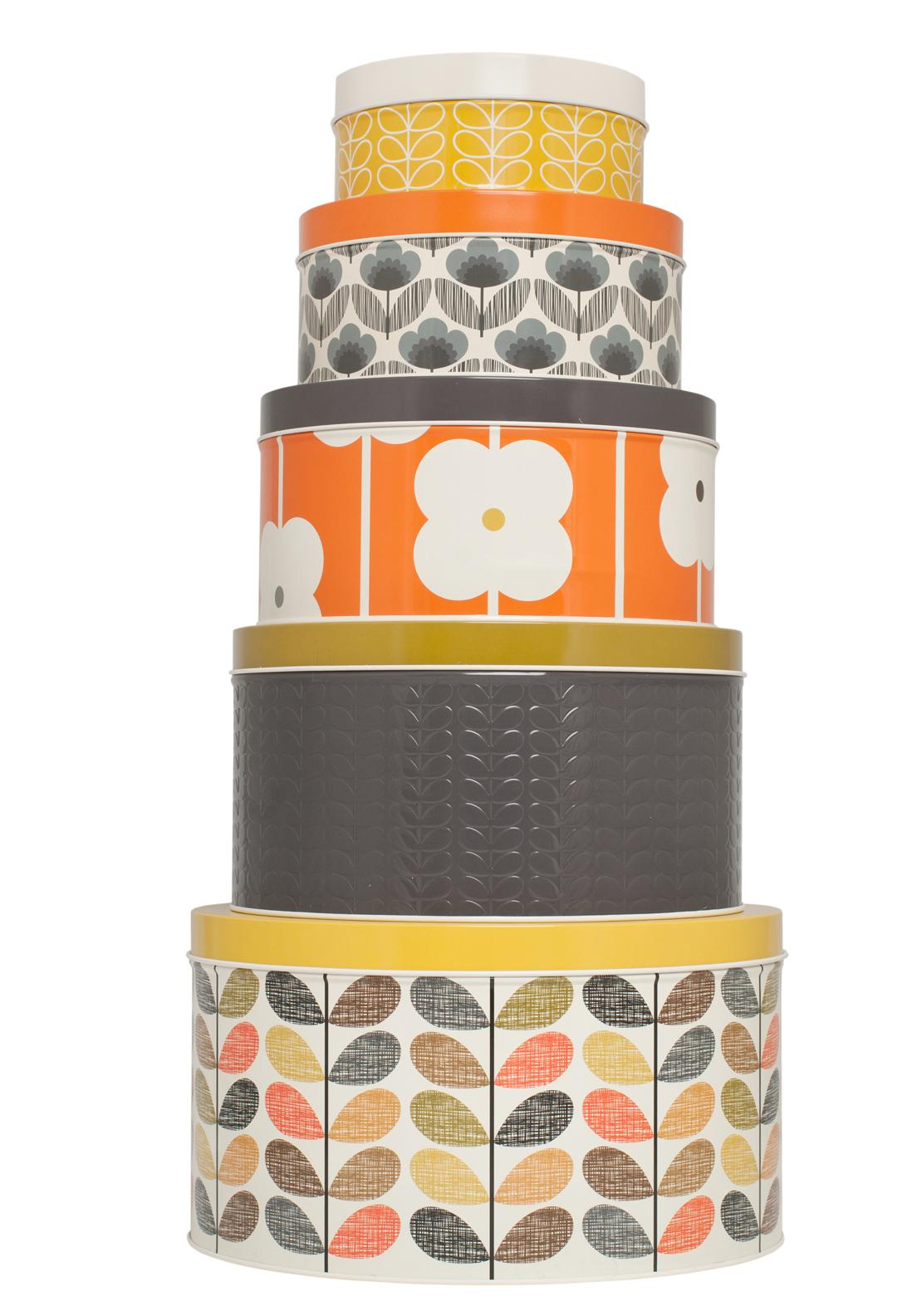 Orla Kiely Round Cake Tins, Set of 5