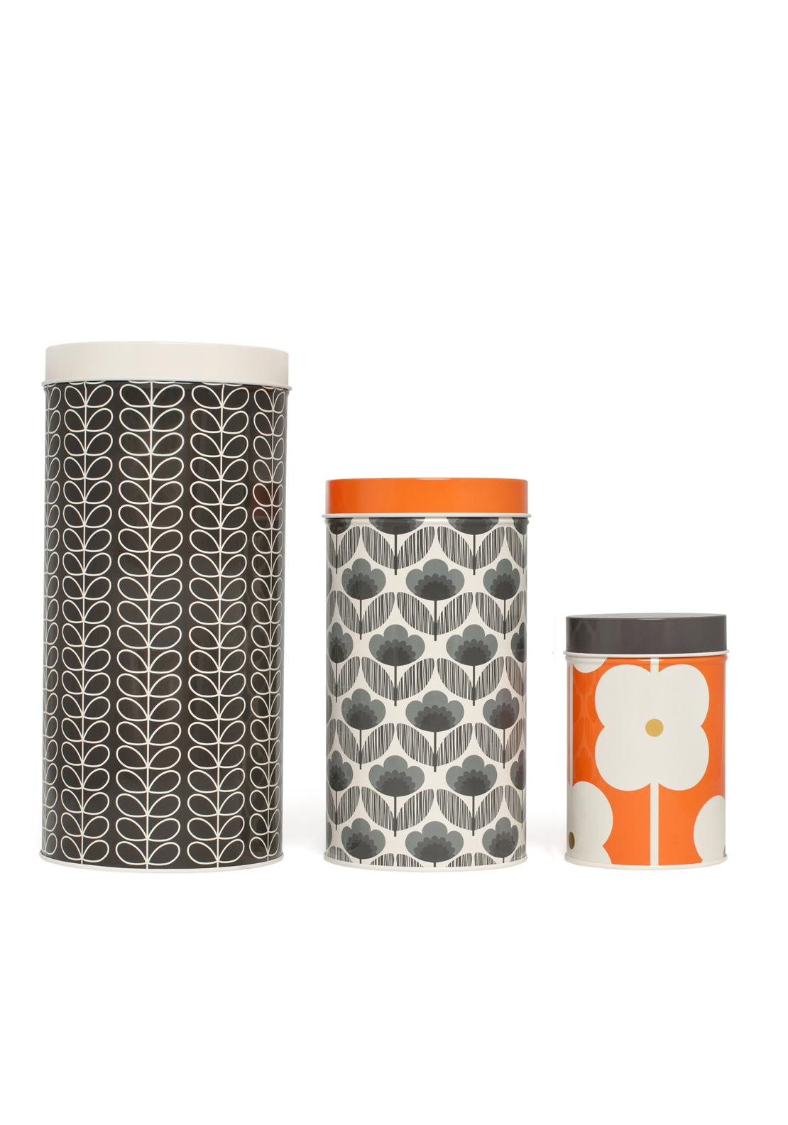 Orla Kiely Poppy Meadow Canister Set of 3, Blue