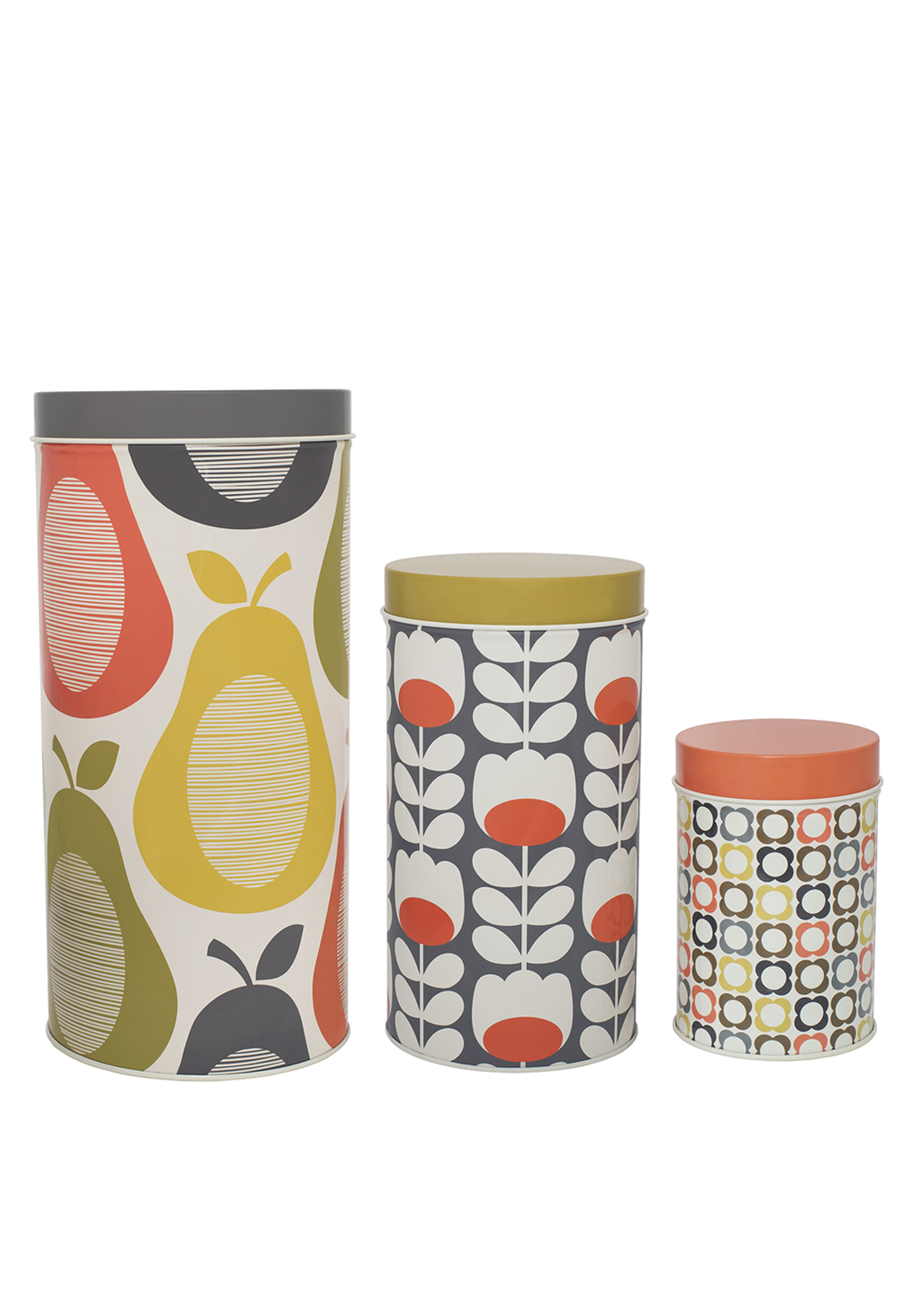 Orla Kiely Set of 3 Canister, Multi Coloured