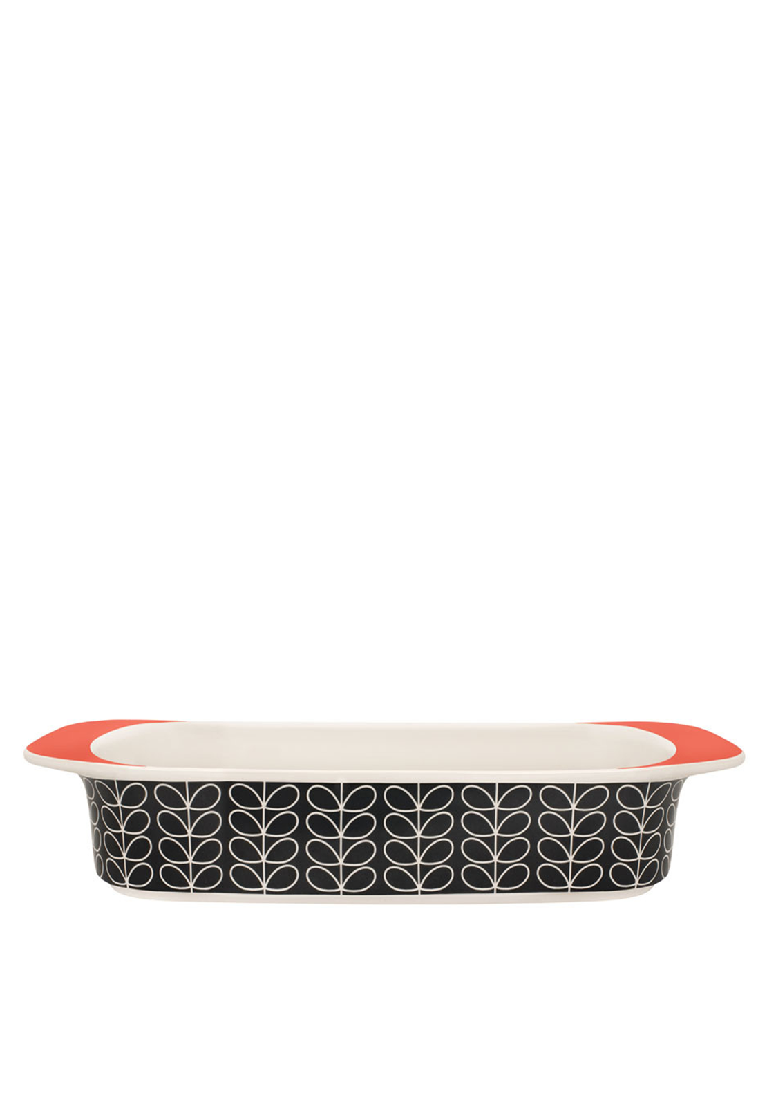 Orla Kiely Gratin Dish Linear Stem, Dark Grey