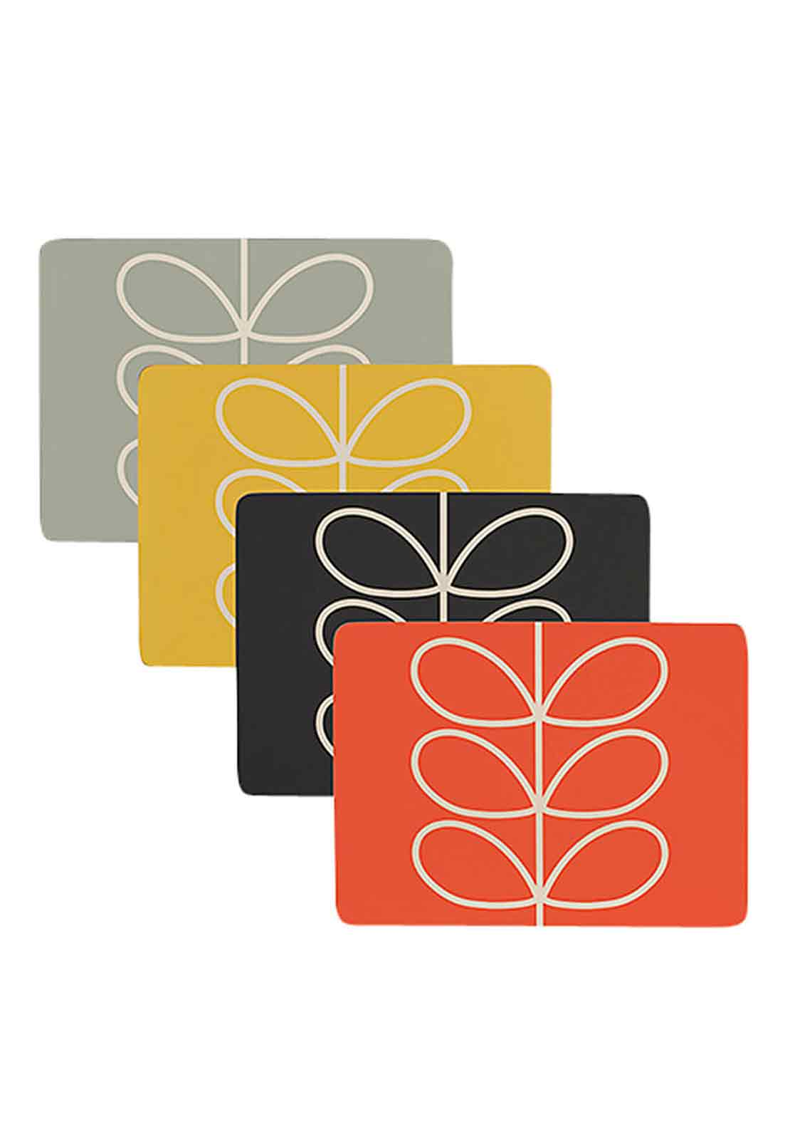 Orla Kiely Set of 4 Placemats, Multi-Coloured