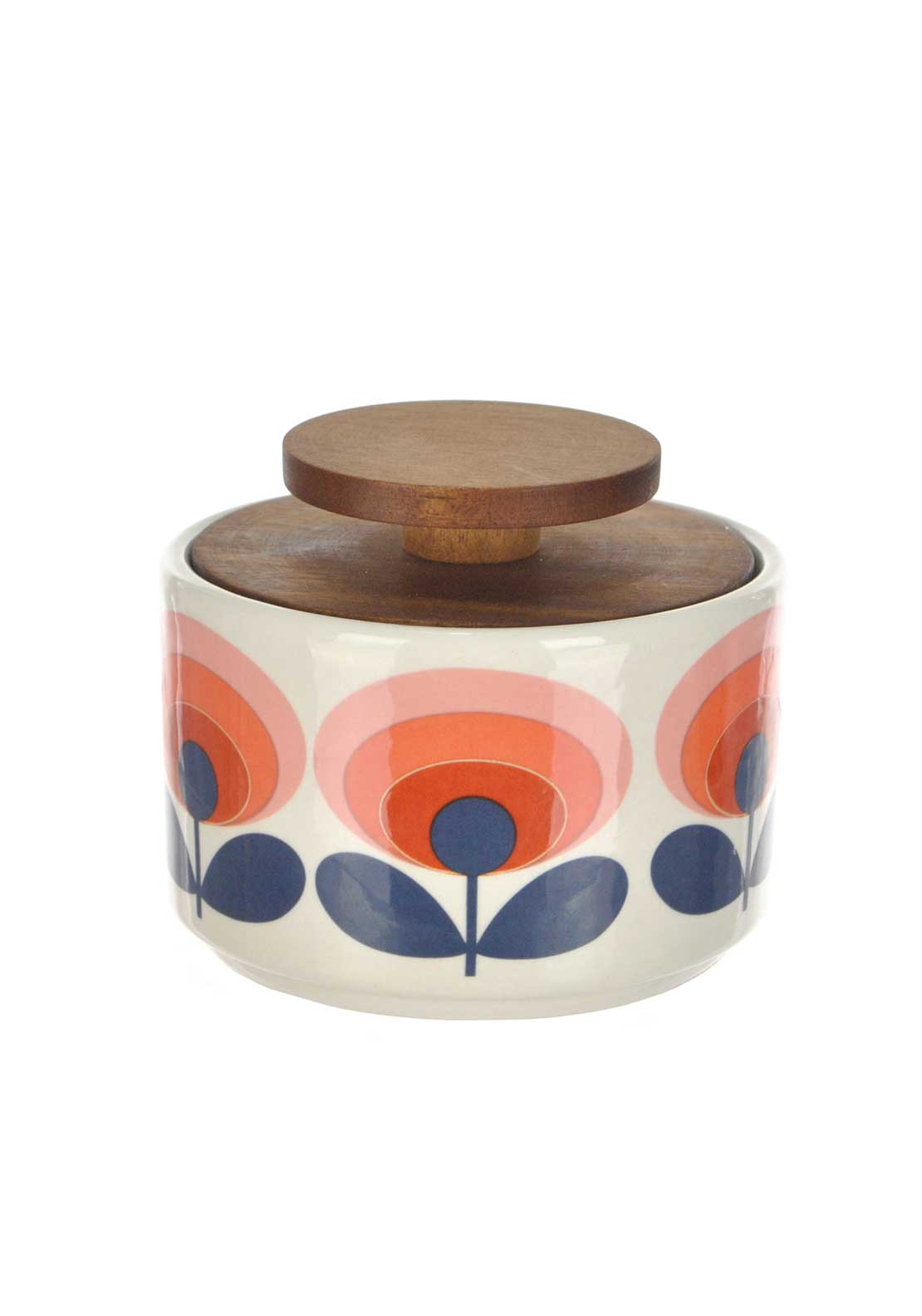 Orla Kiely House Sugar Bowl, Red Floral Print