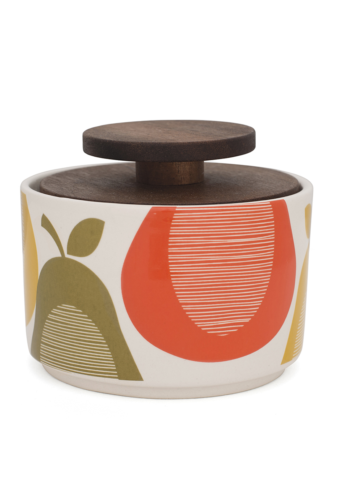 Orla Kiely Pear Print Sugar Bowl, Cream Multi