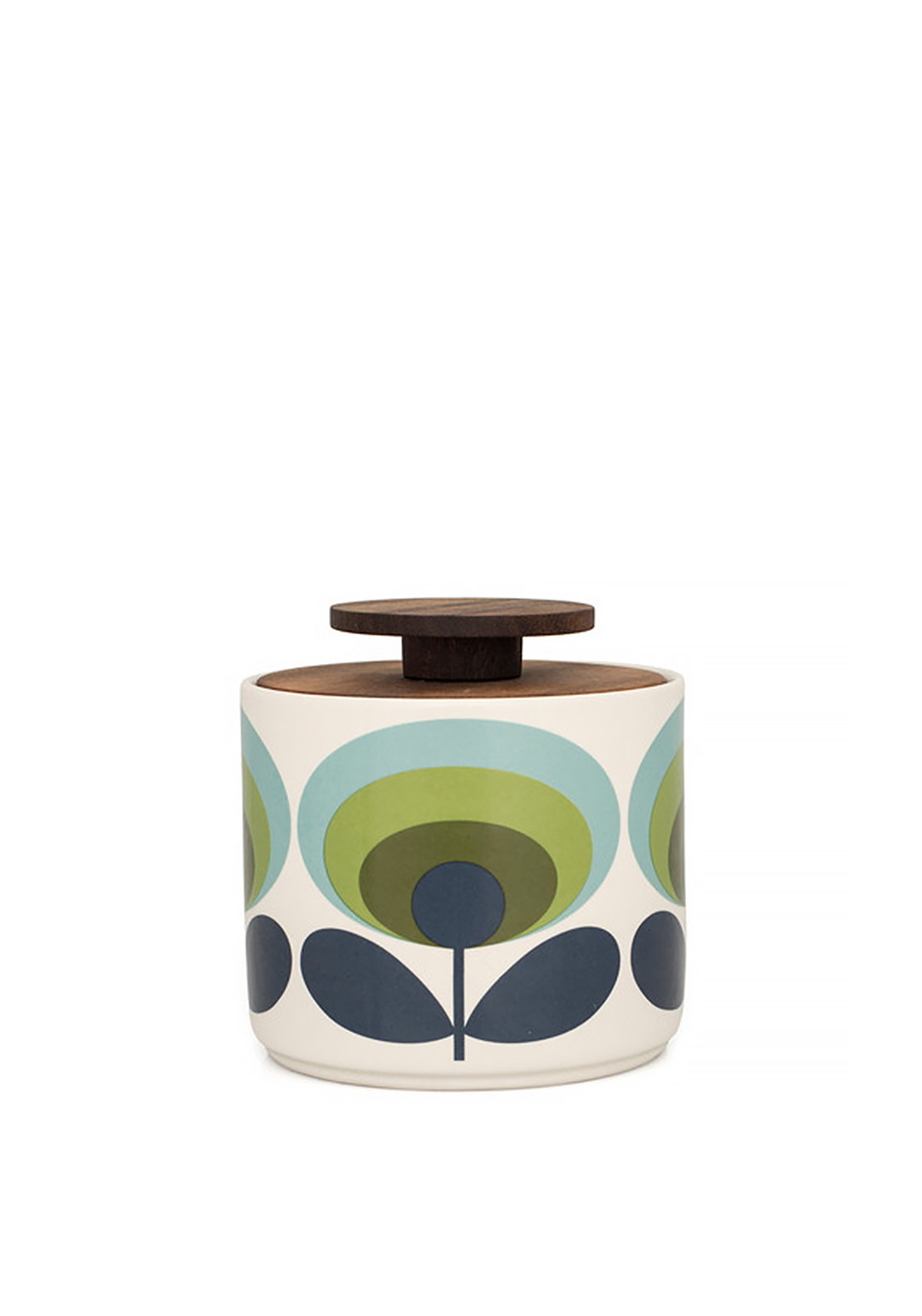 Orla Kiely House Storage Jar Small 1 Lt, Green Floral Print