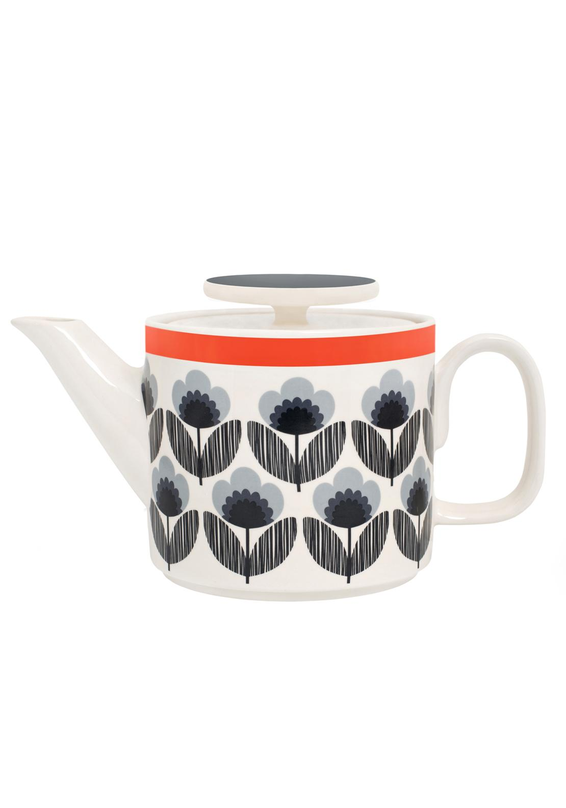 Orla Kiely Poppy Meadow Teapot, Blue