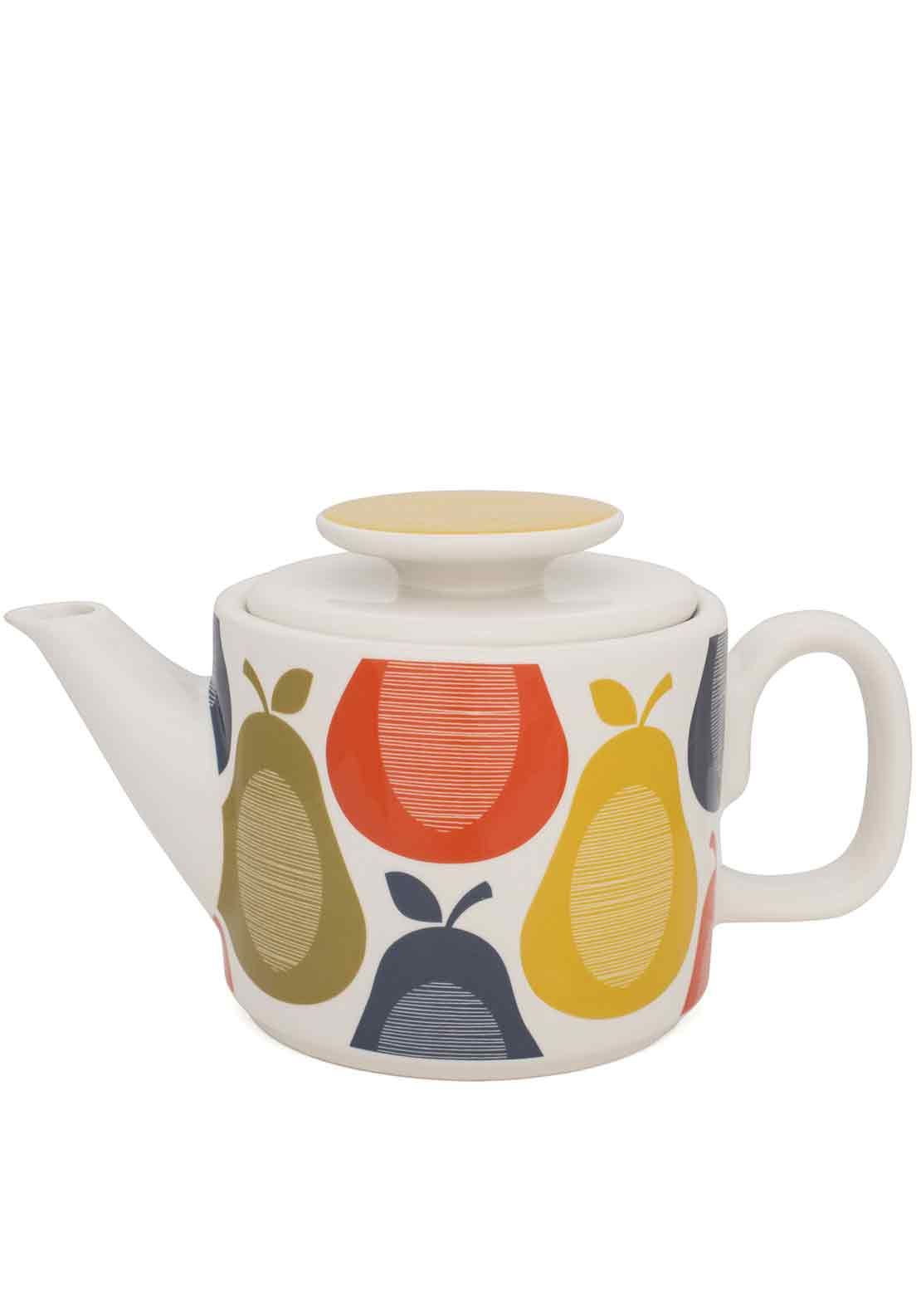 Orla Kiely Pear Teapot, Multi-Coloured