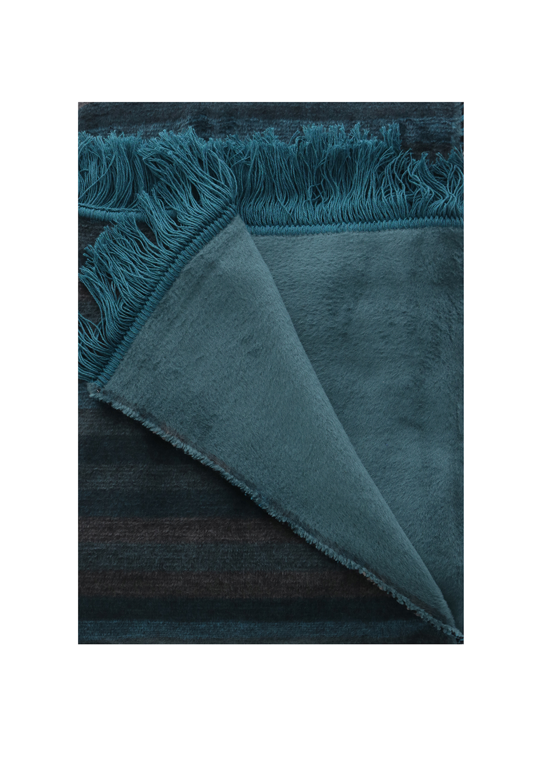 Biederlack Thermosoft Viva Teal Stripe