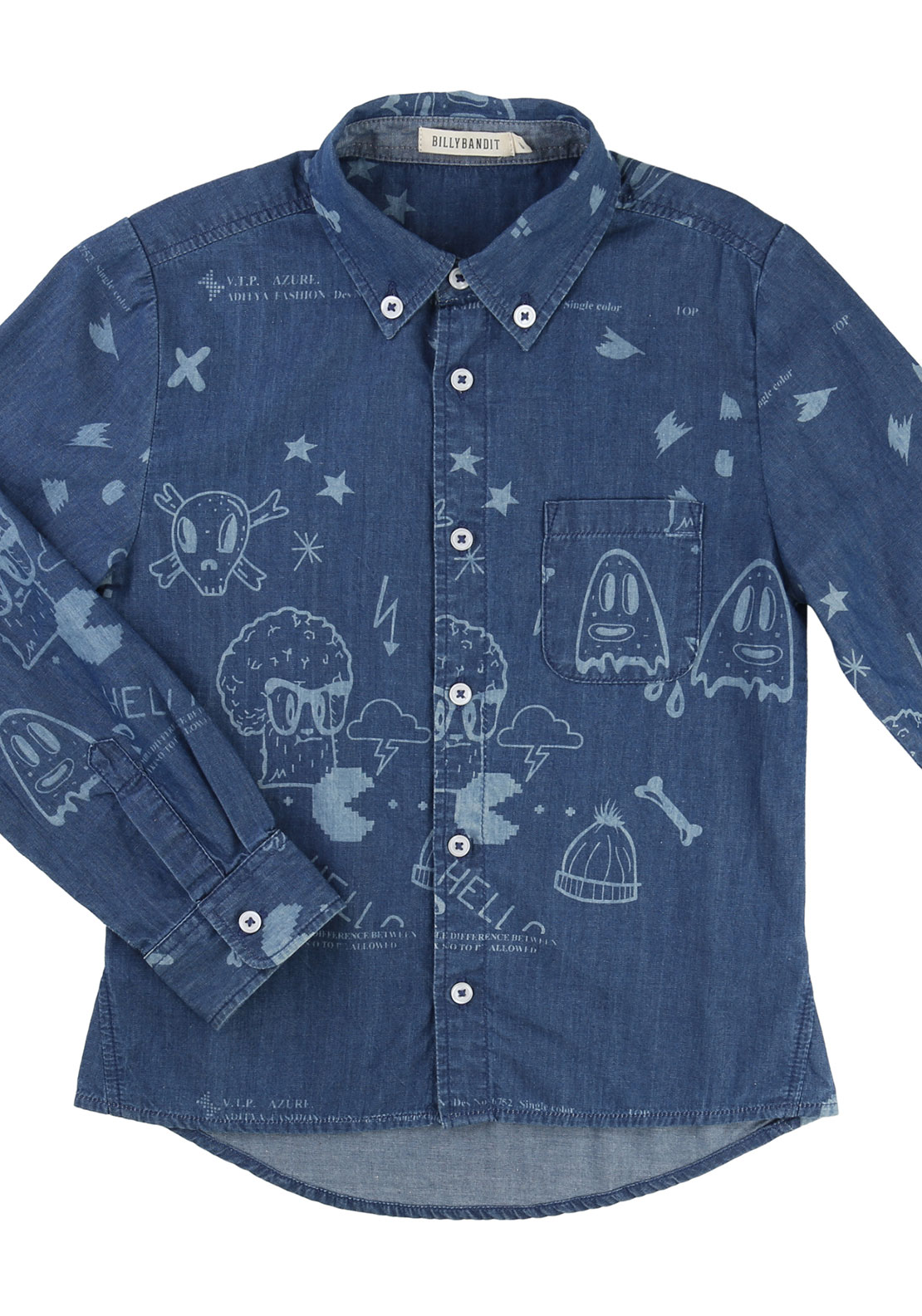 Billybandit Arcade Denim Shirt, Blue