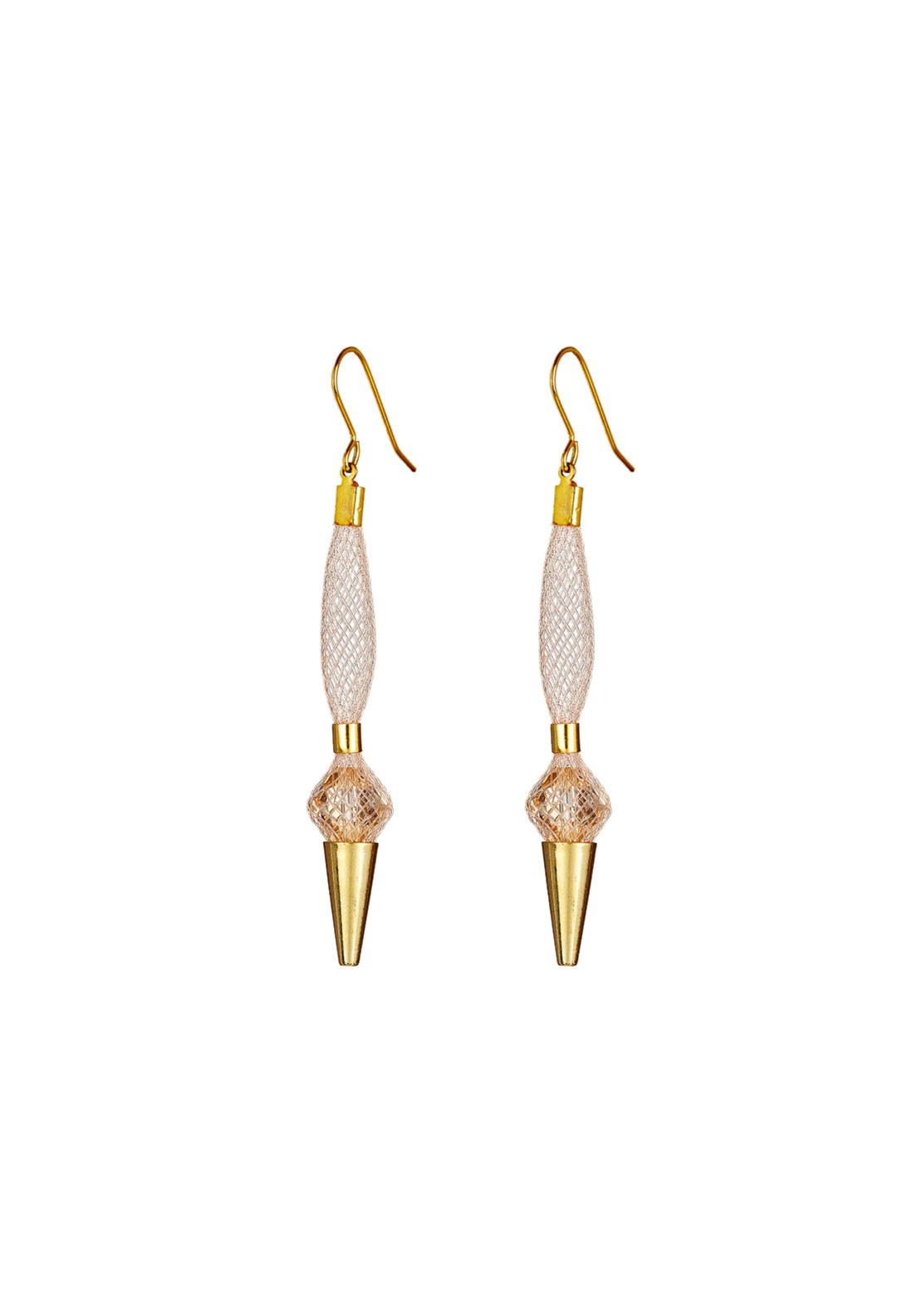 Blaithin Ennis Topaz Small Droplet Earrings, Blush Gold