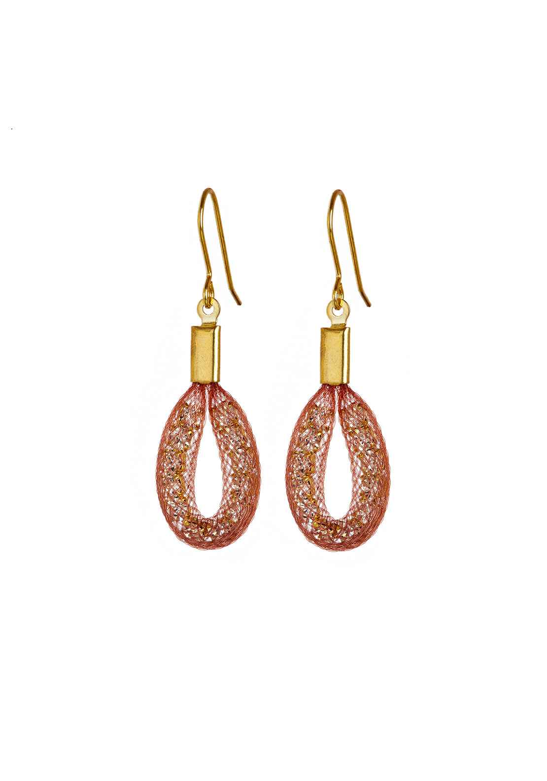 Blaithin Ennis Topaz Tiny Teardrop Earrings, Blush Gold