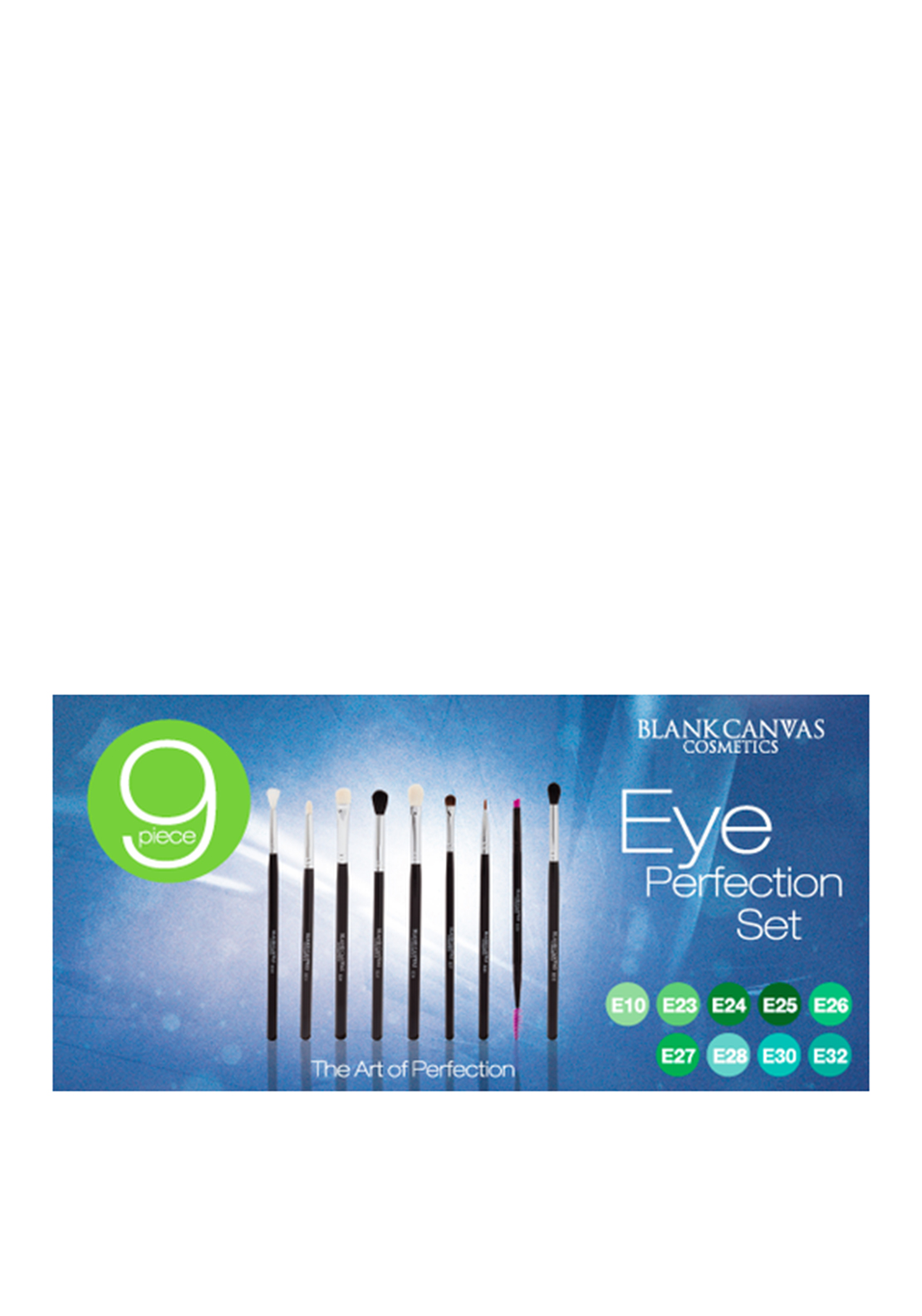 Blank Canvas Cosmetics 9 Piece Eye Perfection Brush Set