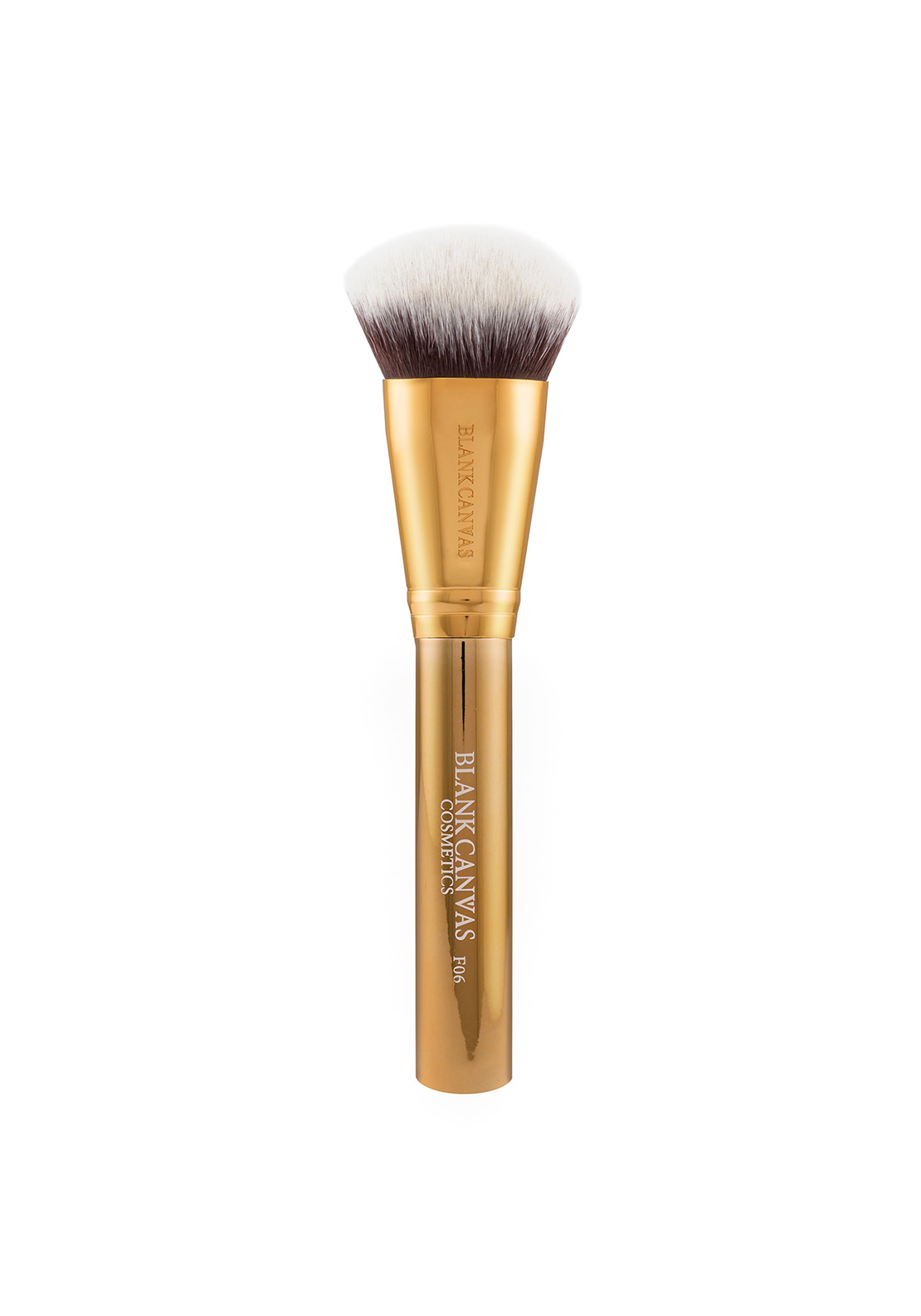 Blank Canvas Cosmetics F06 Metallic Gold Bevelled Foundation/ Contour Brush