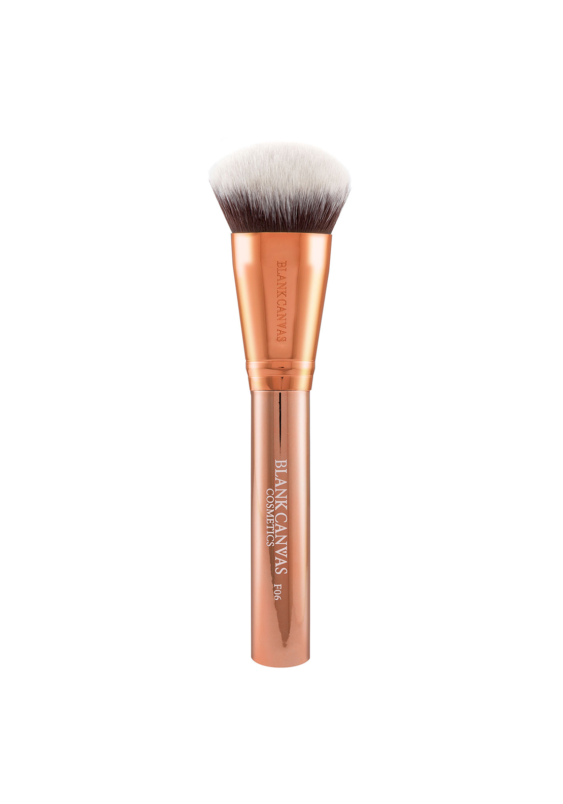 Blank Canvas Cosmetics F06 Rose Gold Bevelled Foundation/ Contour Brush