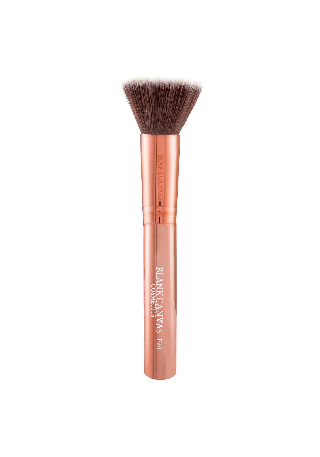 Blank Canvas Cosmetics F20 Metallic Rose Gold Flat Buffer Brush