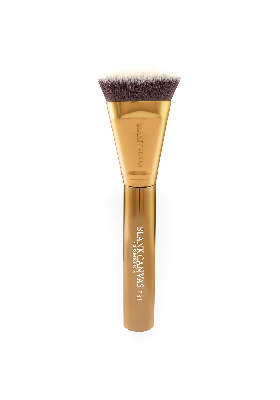 Blank Canvas Cosmetics F31 Metallic Gold Targeted Contour Brush
