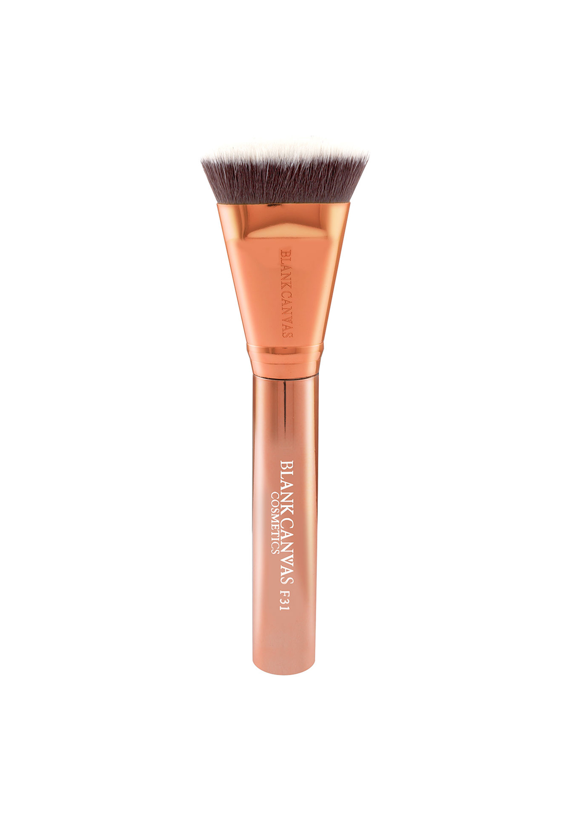 Blank Canvas Cosmetics F31 Metallic Rose-Gold Targeted Contour Brush