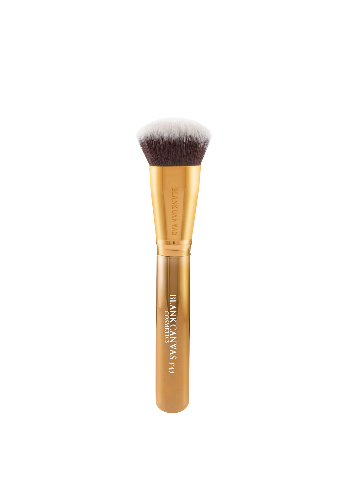 Blank Canvas Cosmetics F43 Flat Rounded Multi Face Brush, Gold