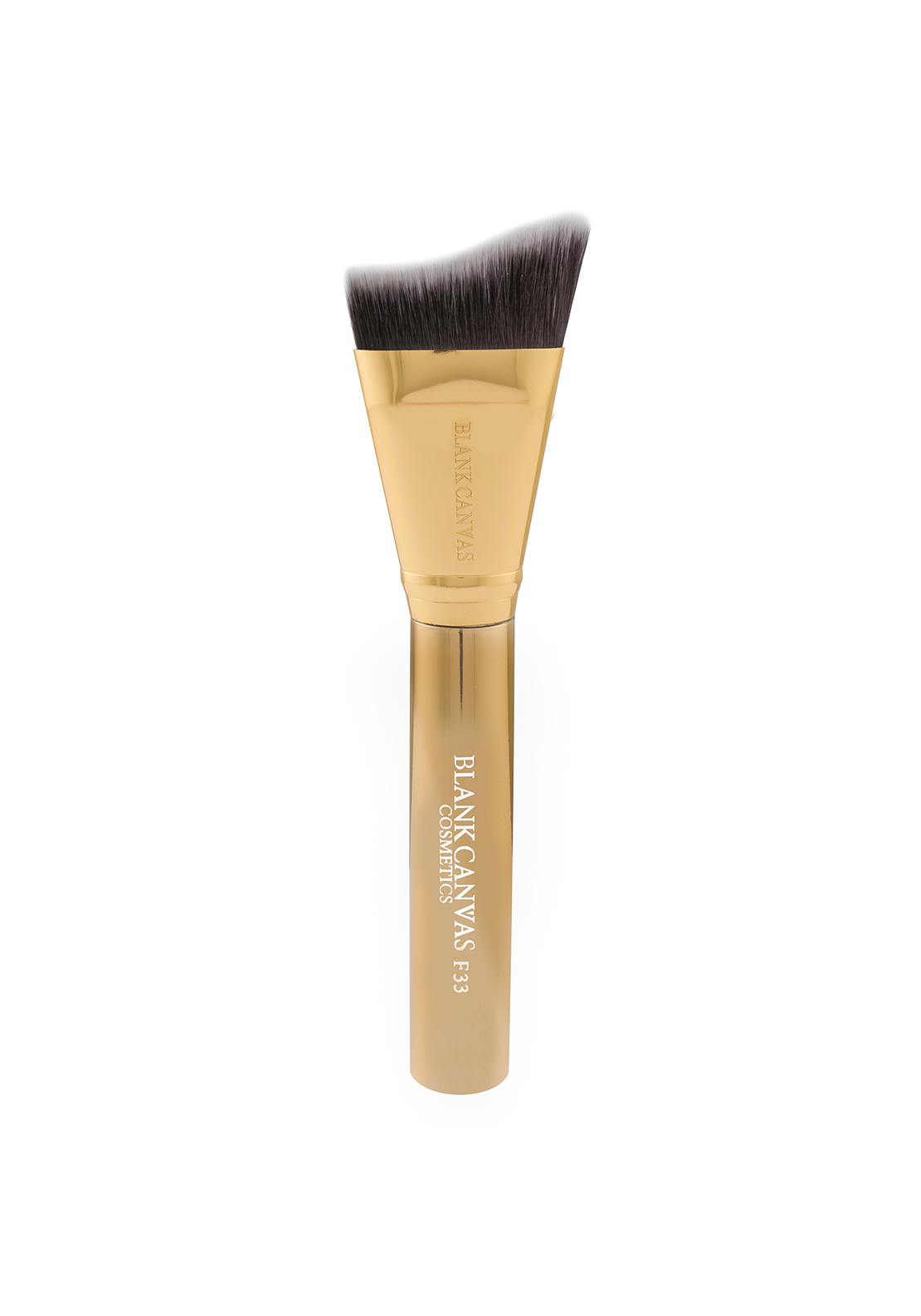 Blank Canvas Cosmetics F33 Metallic Gold Extreme Angle Contour Brush