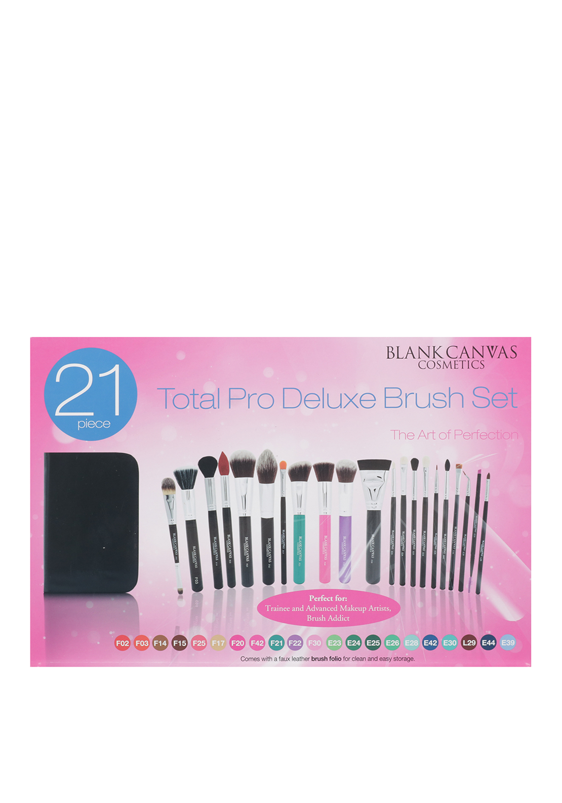 Blank Canvas Cosmetics 21 Piece Total Pro Deluxe Brush Set