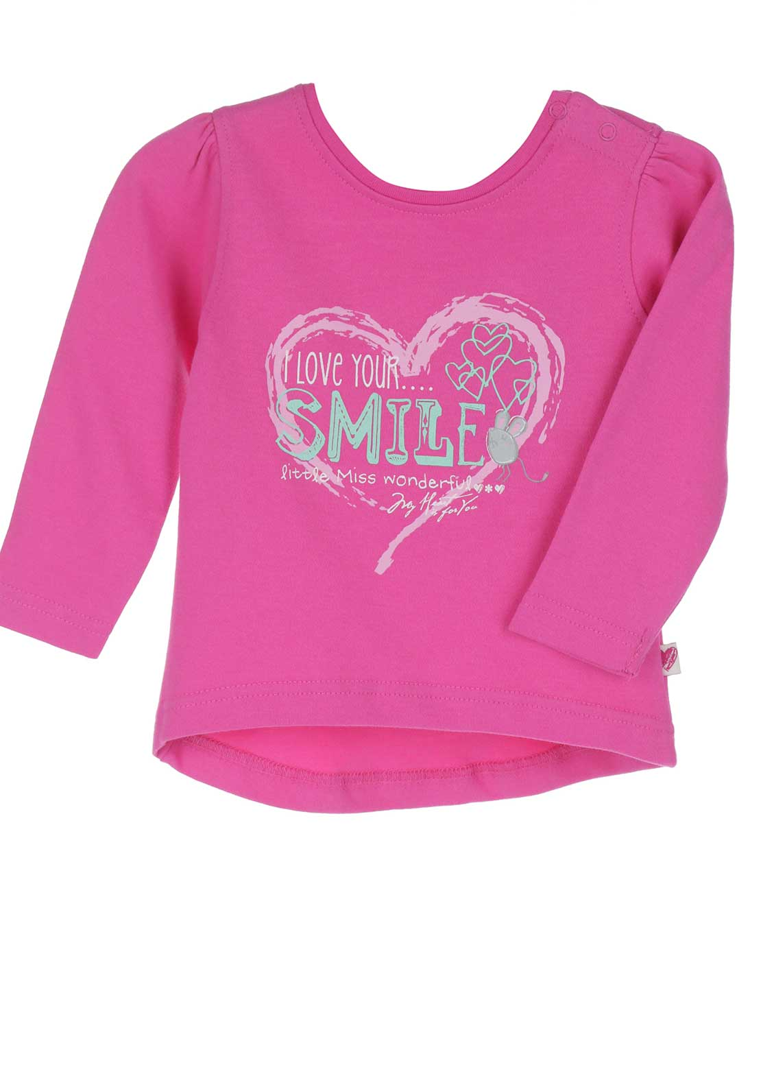 Blue Seven Baby Girls Heart Top, Pink