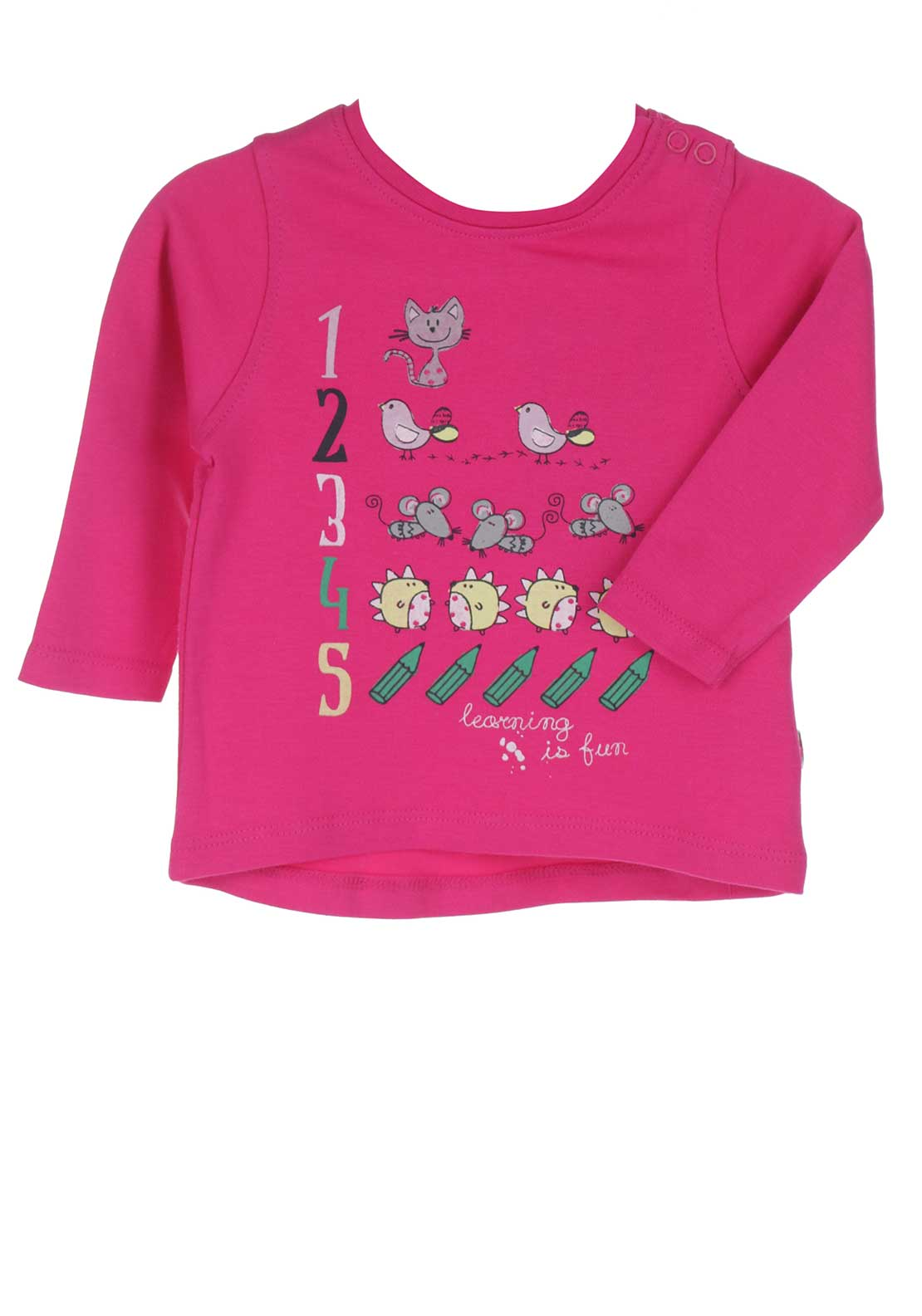 Blue Seven Baby Girls Learning Top, Pink