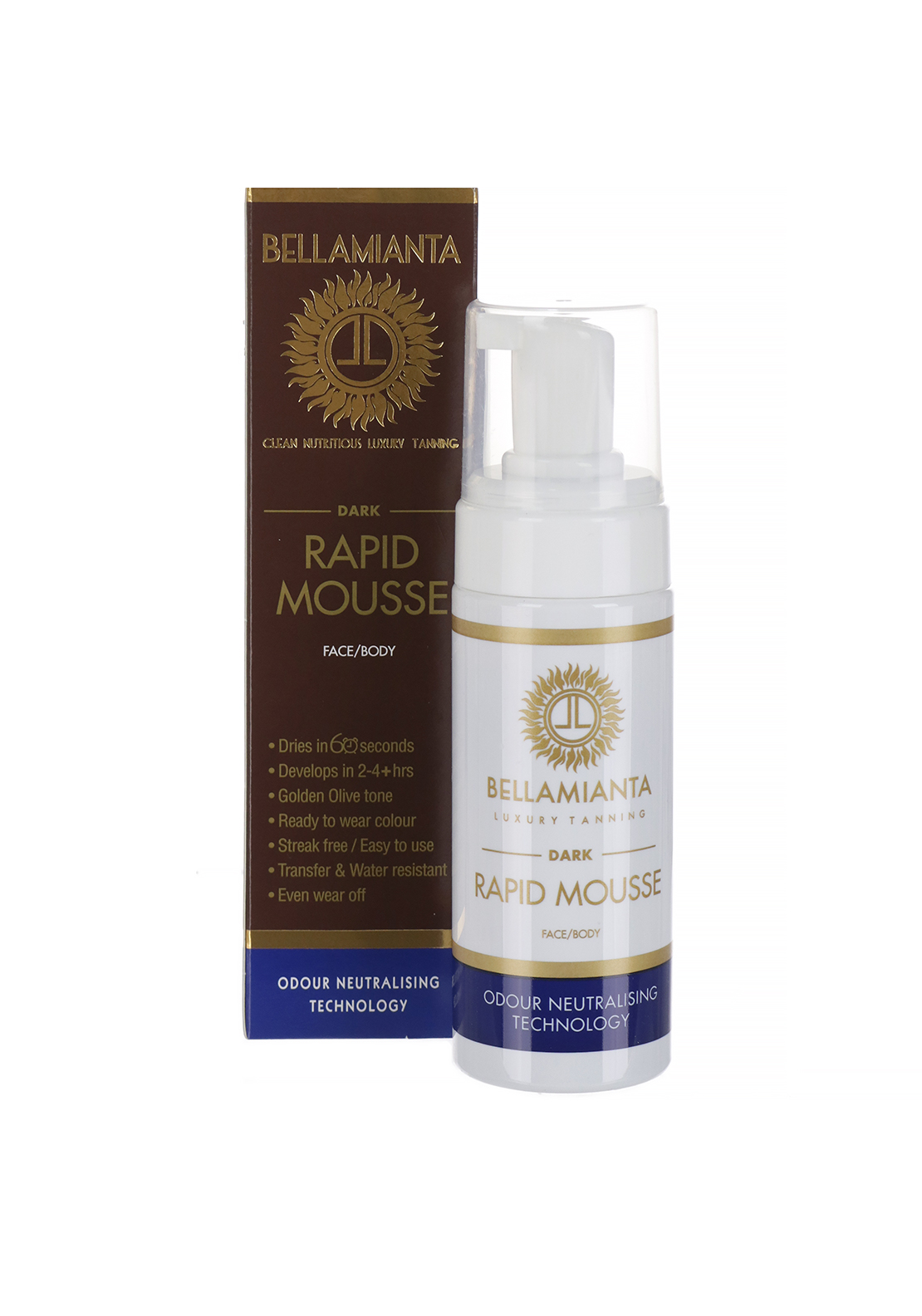 Bellamianta Rapid Tanning Mousse, Face/Body