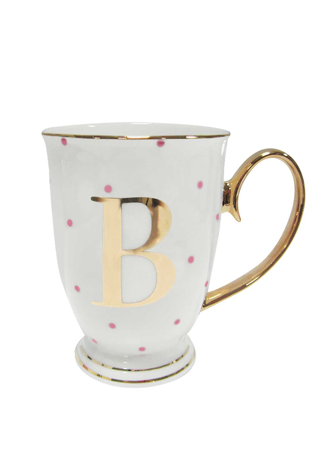 Bombay Duck Alphabet Spotty Mug, B