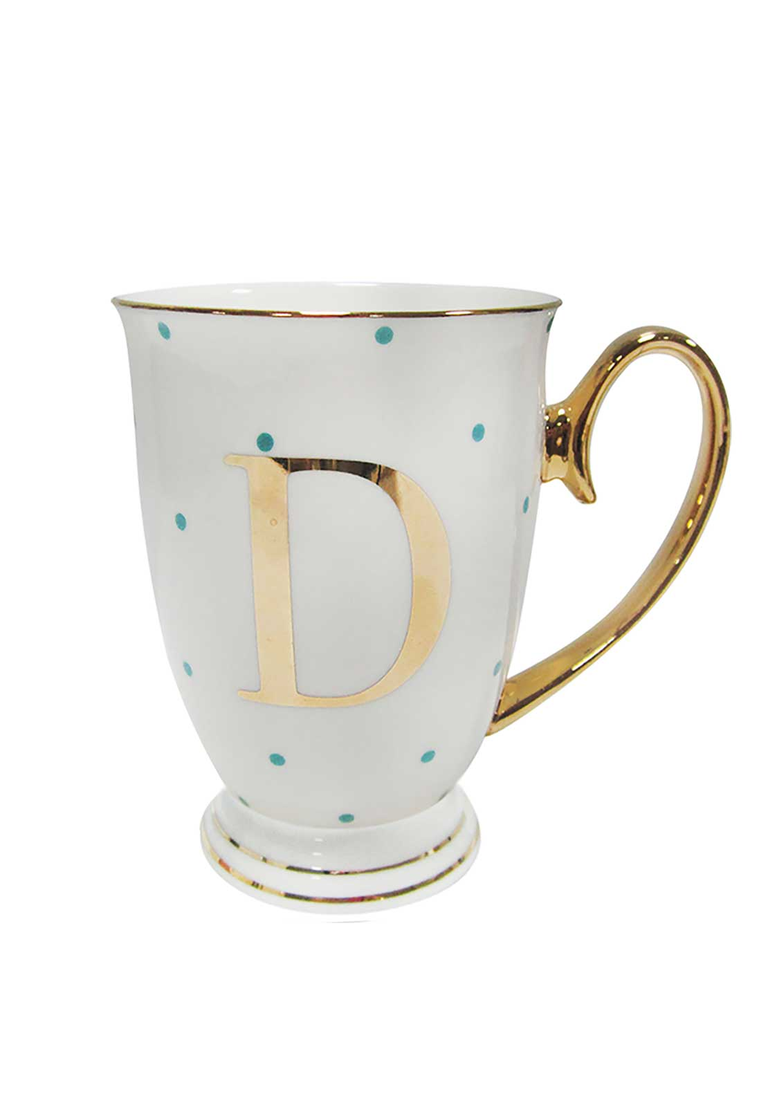 Bombay Duck Alphabet Spotty Mug, D