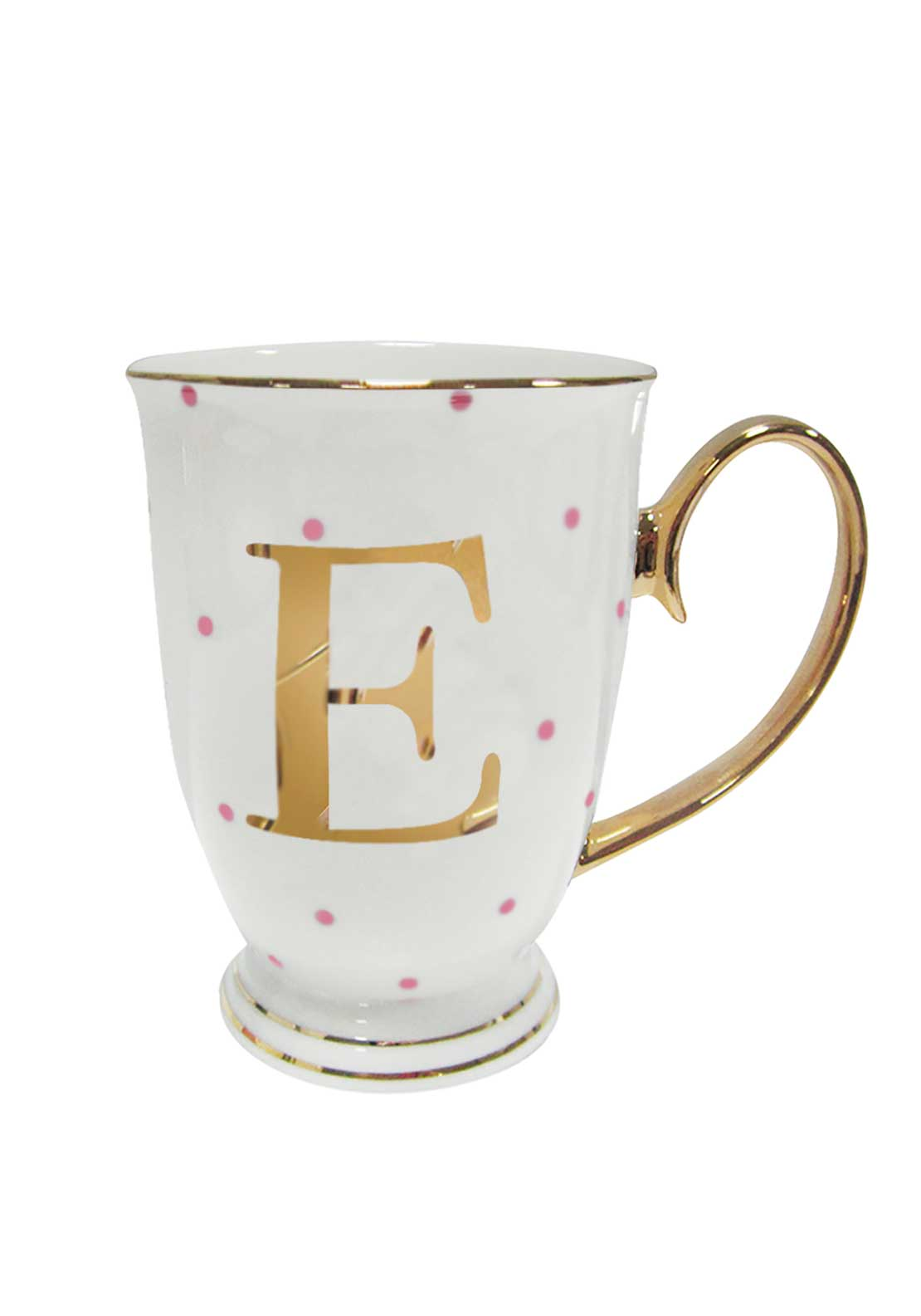 Bombay Duck Alphabet Spotty Mug, E