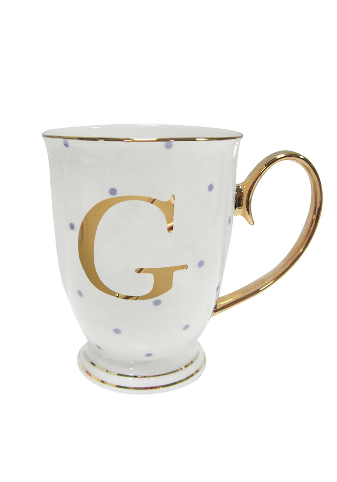 Bombay Duck Alphabet Spotty Mug, G