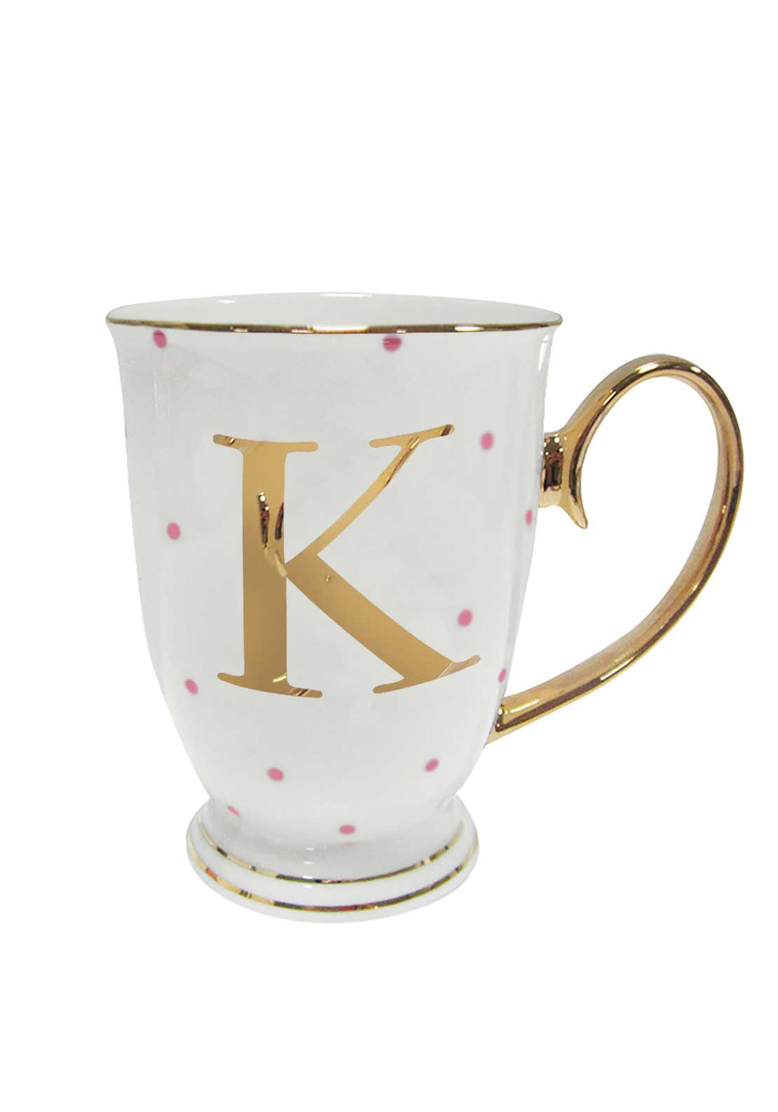 Bombay Duck Alphabet Spotty Mug, K