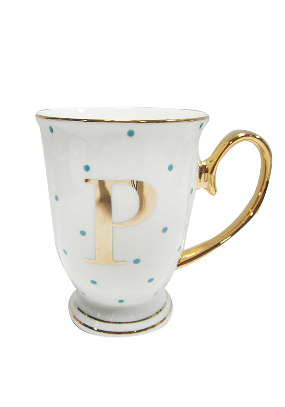 Bombay Duck Alphabet Spotty Mug, P