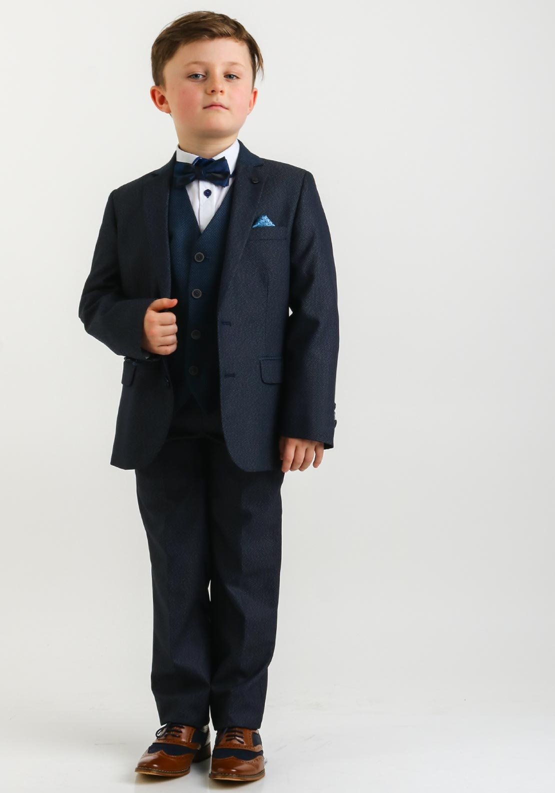 1880 Club Woven Two Piece Suit, Dark Navy