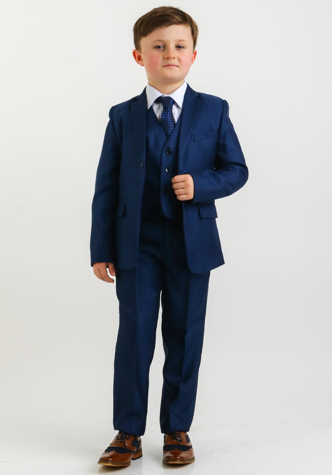 McElhinneys 3 Piece Suit with Shirt and Tie, Navy