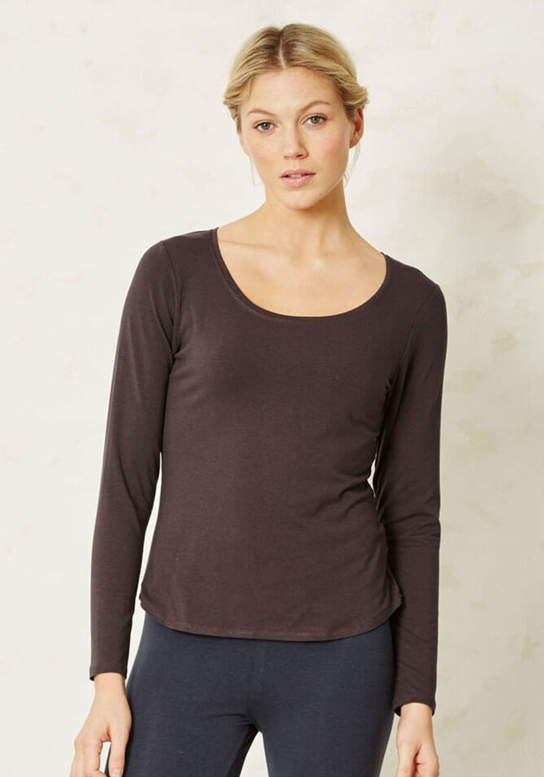 Braintree Cotton Blend Long Sleeve T-Shirt, Grey