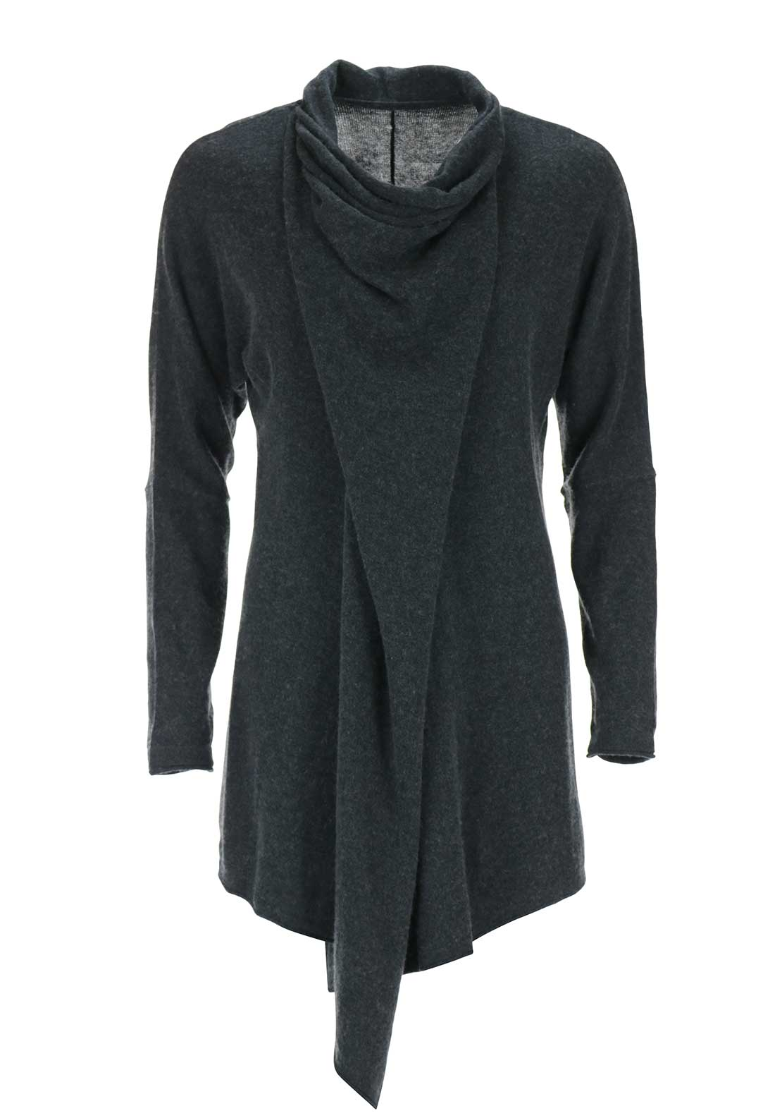 Braintree Hip Zip Multi-Way Cardigan, Dark Grey