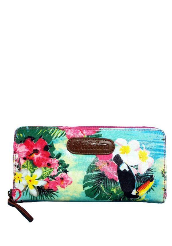 BRAKEBURN HAWAIIAN PURSE, MULTI-COLOURED