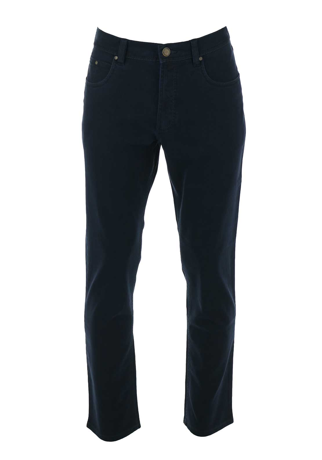 Bugatti Mens Nevada Five Pocket Trouser, Navy