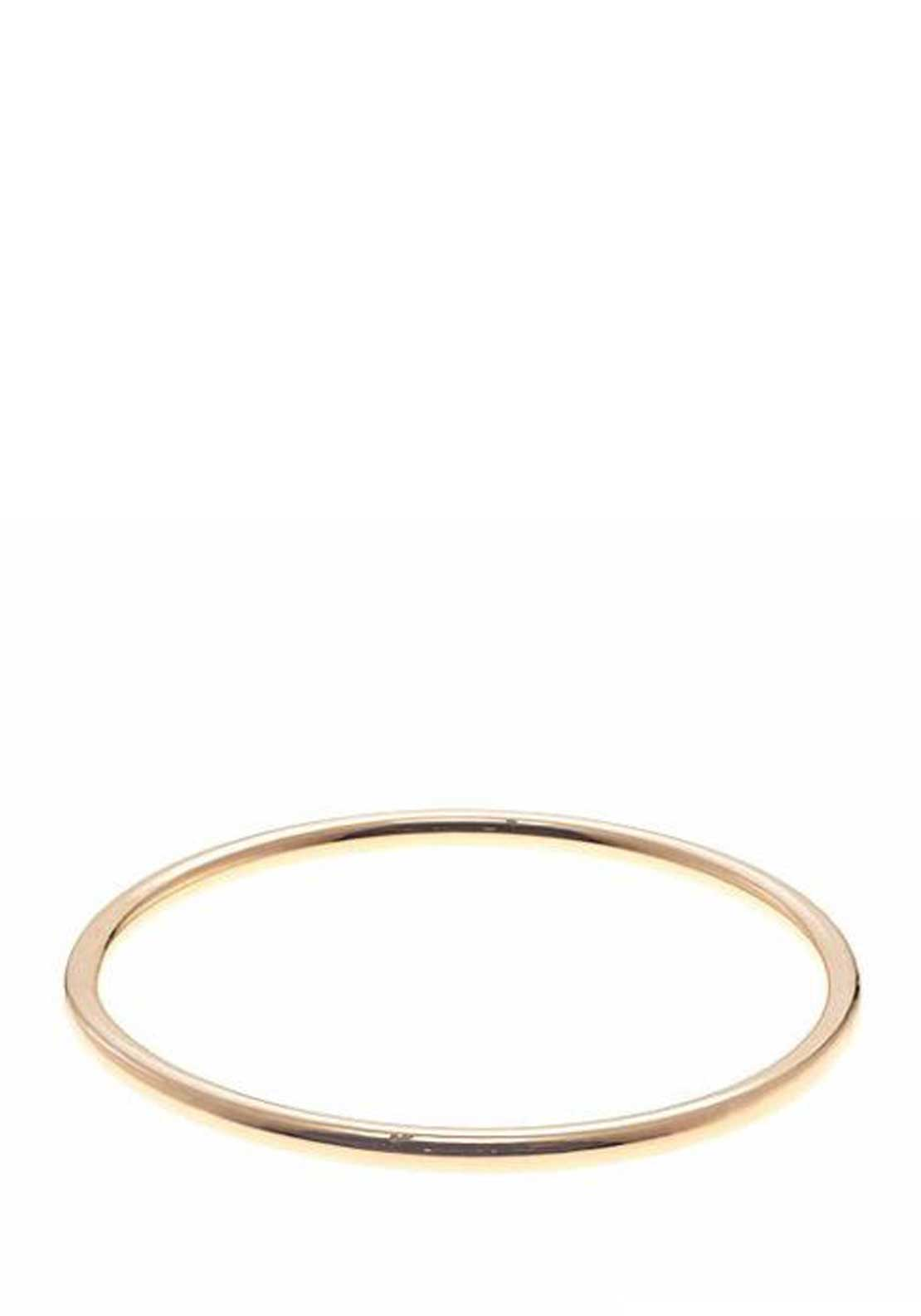 Bronzallure Plain Rounded Bangle, Rose Gold