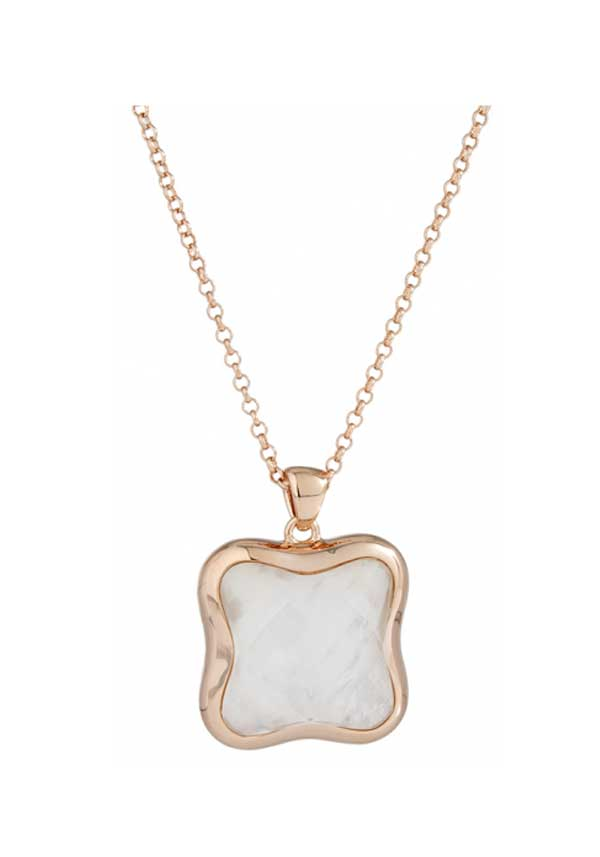 Bronzallure Mother of Pearl Pendant Necklace