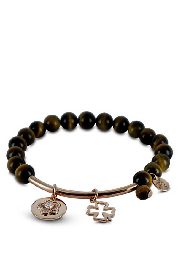 Coco88 Beloved Tiger's Eye Natural Stone Bracelet