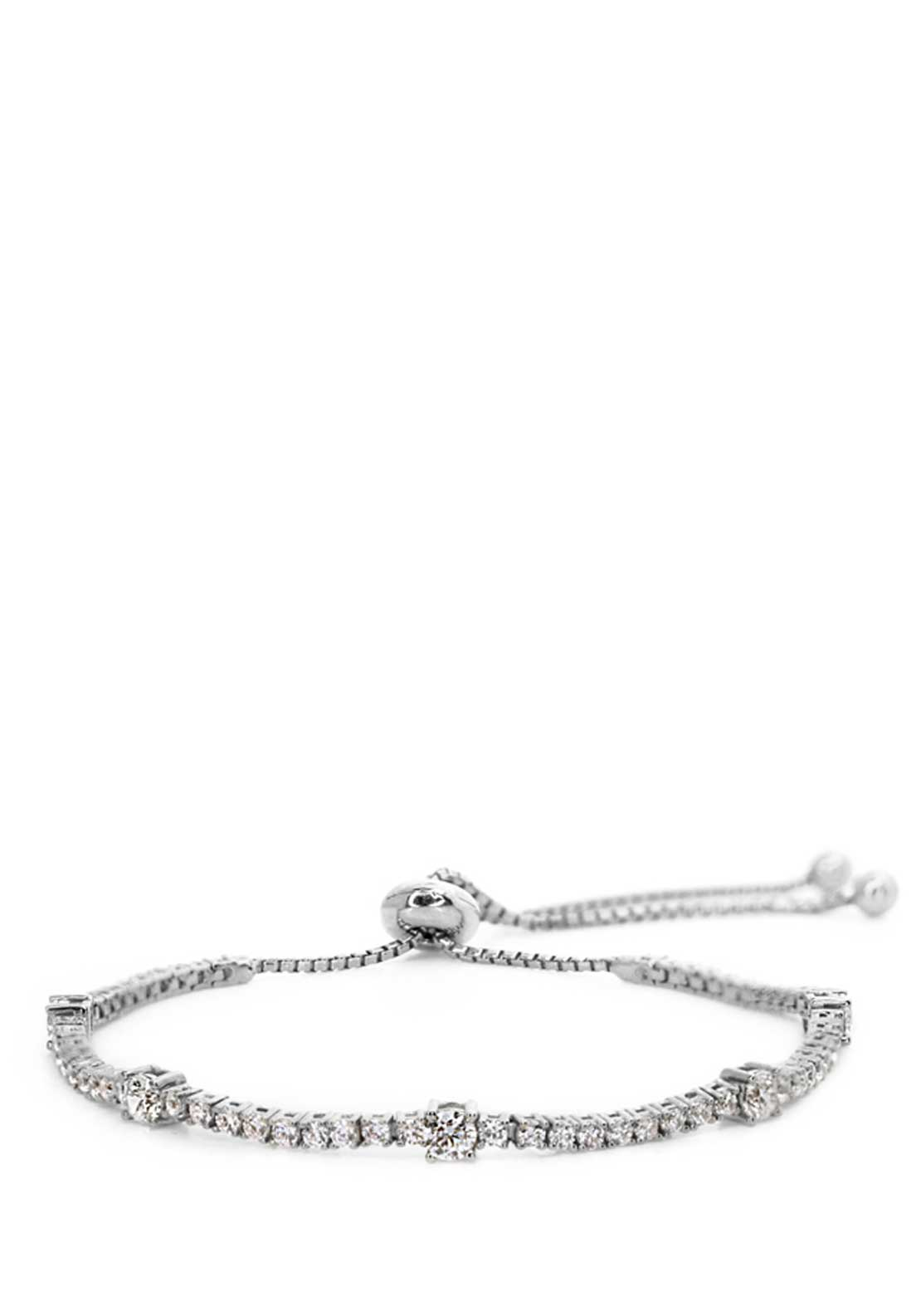 Carat London Created Diamond Phoebe Bracelet, Sterling Silver