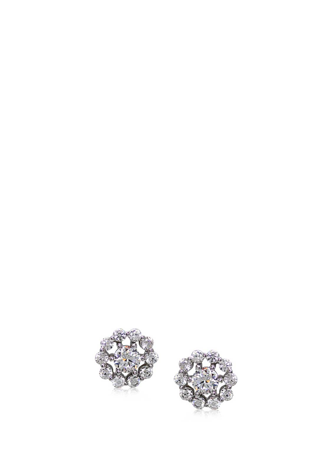 Carat London Flora Stud Earrings, Silver