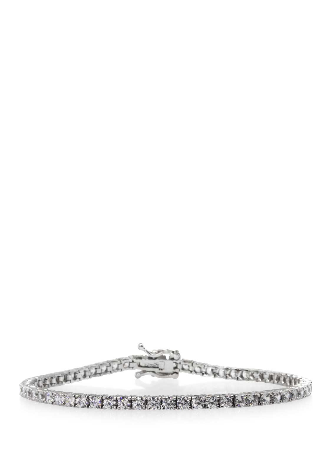 Carat London Brilliant Round Cut Tennis Bracelet, Sterling Silver