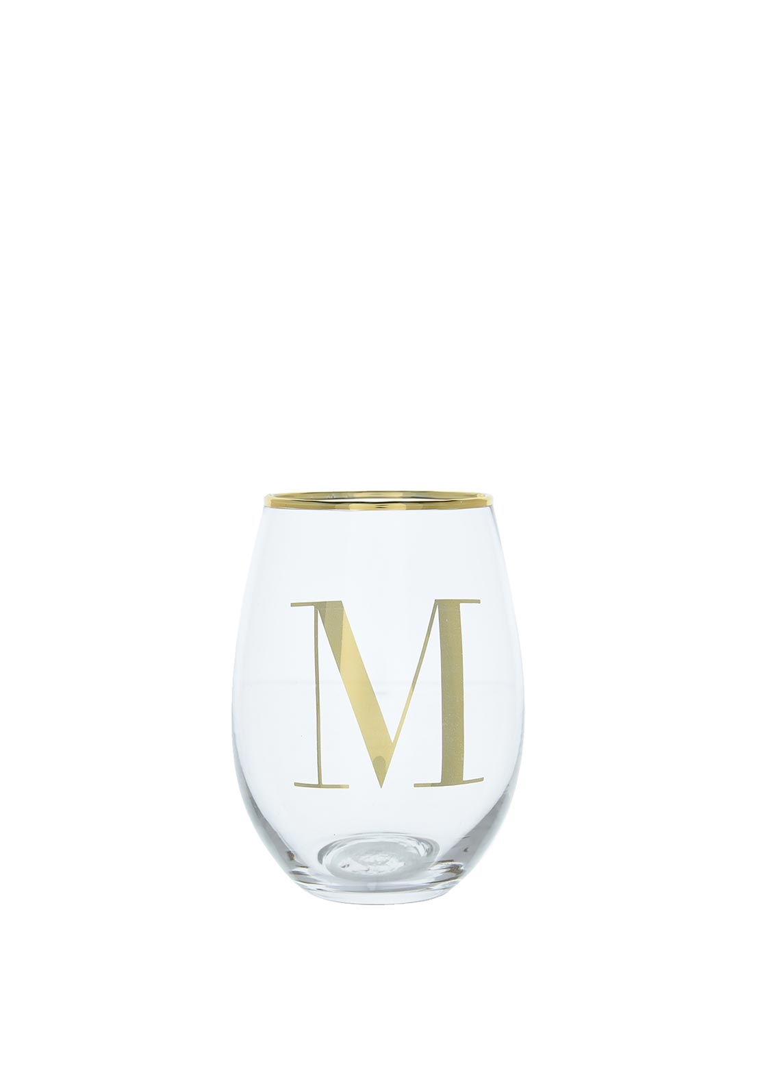 Candlelight Glass Tumbler, Initial M